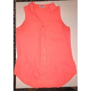 Express - Slim Fit Sleeveless - Bright Pink